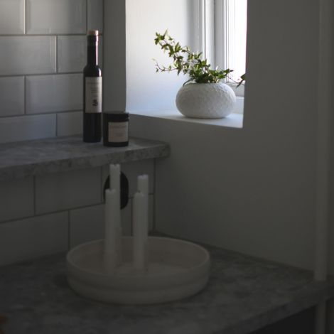 Storefactory Vase Runsten White Keramik