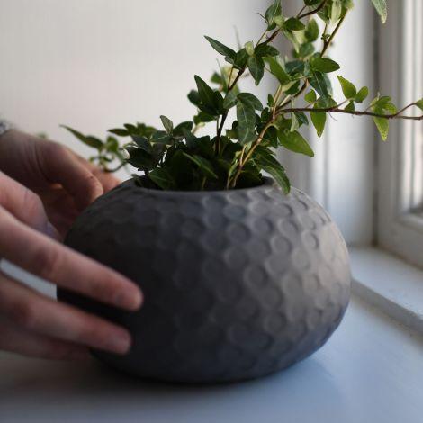 Storefactory Vase Runsten Dark Grey Keramik