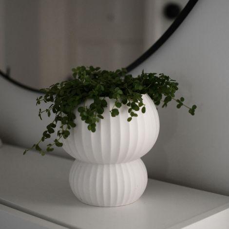 Storefactory Vase/Übertopf Sandhamn White Keramik