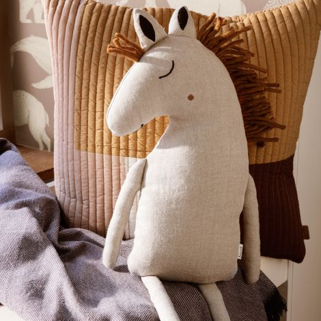 ferm LIVING Kuscheltier Safari Horse Natural