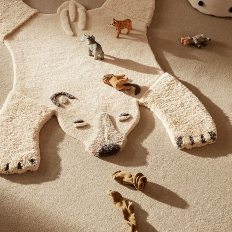ferm LIVING Teppich Animal getuftet Polar Bear