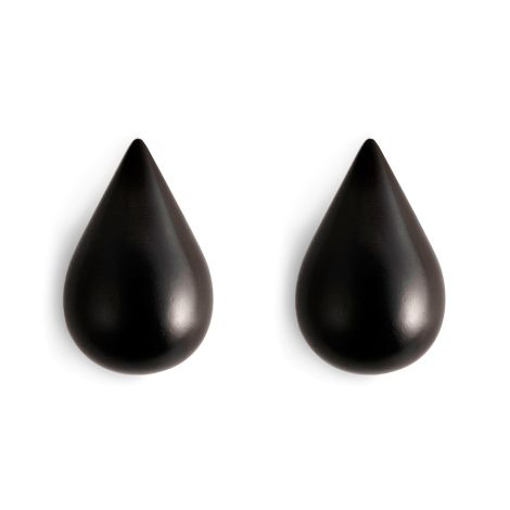 Normann Copenhagen Dropit Wandhaken Small 2er-Set Black •