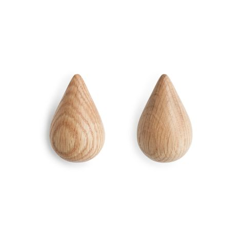 Normann Copenhagen Dropit Wandhaken Small 2er-Set Nature