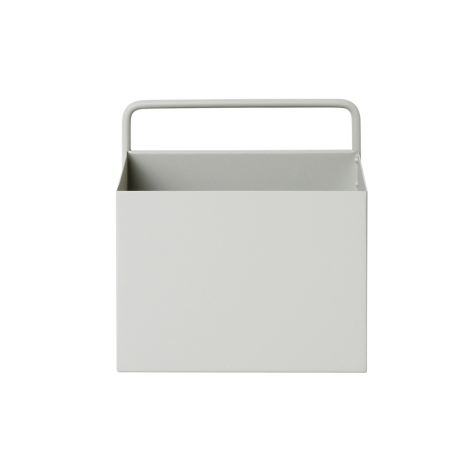 ferm LIVING Aufbewahrungsbox Wand Square Light Grey •