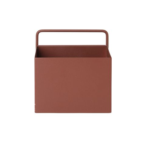 ferm LIVING Aufbewahrungsbox Wand Square Red Brown •