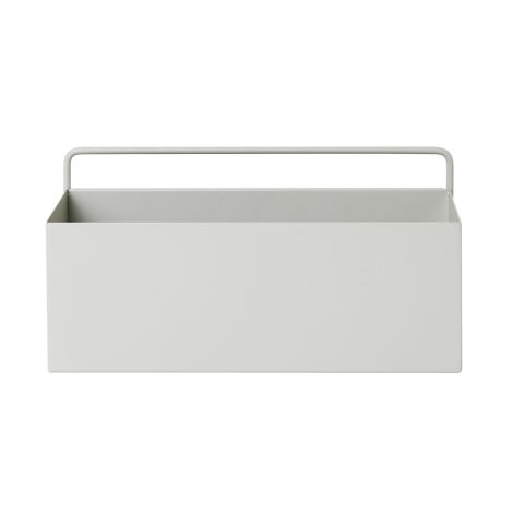 ferm LIVING Aufbewahrungsbox Wand Rectangle Light Grey