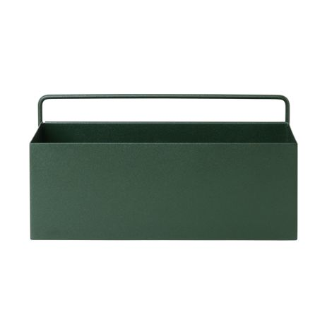 ferm LIVING Aufbewahrungsbox Wand Rectangle Dark Green •