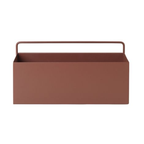 ferm LIVING Aufbewahrungsbox Wand Rectangle Red Brown •