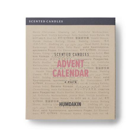 Humdakin Duftkerze Adventkalender 4er-Set