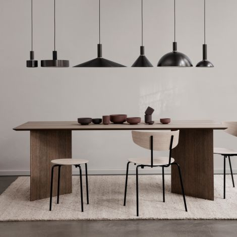 ferm LIVING Lampenschirm Disc Shade Black Brass