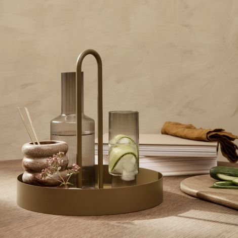 ferm LIVING Tablett Grib Olive