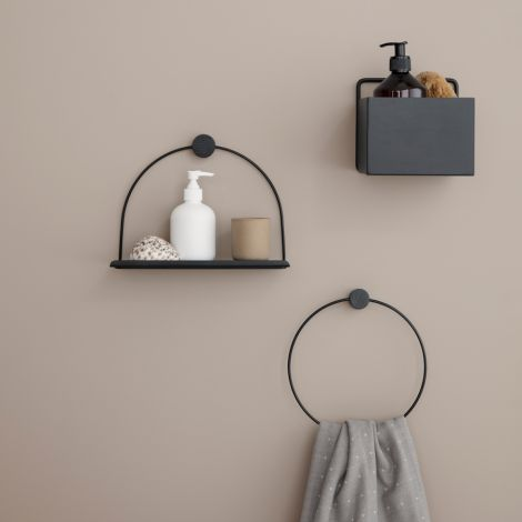 ferm LIVING Regal-Ablage Black