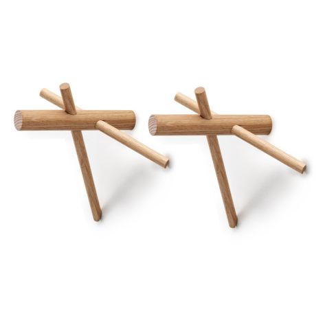 Normann Copenhagen Sticks Wandhaken 2er-Set Nature