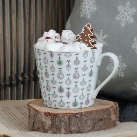 Krasilnikoff Tasse Happy Cup X-mas Ornaments
