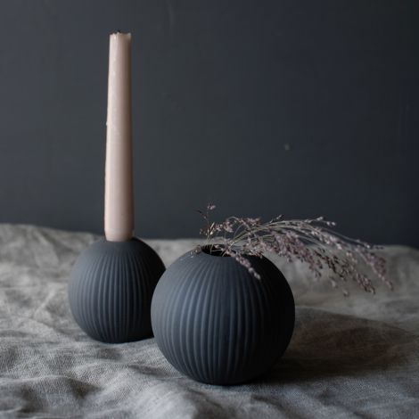 Storefactory Vase Vena Small Dark Grey