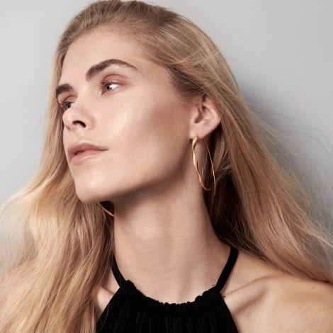 Dansk Smykkekunst Ohrringe Tara Twirl Versilbert •