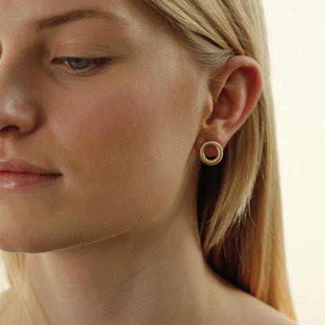 Dansk Smykkekunst Kleine Ohrringe Infinity Vergoldet