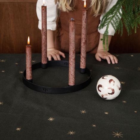 ferm LIVING Decke Weihnachtsbaum Star Dark Green