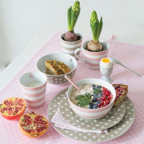 Krasilnikoff Schüssel Happy Bowl Stripes Pink