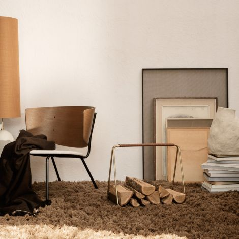 ferm LIVING Brennholzkorb Port Brass