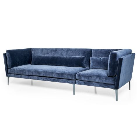 Bloomingville Sofa Rox Blue/Dark Grey