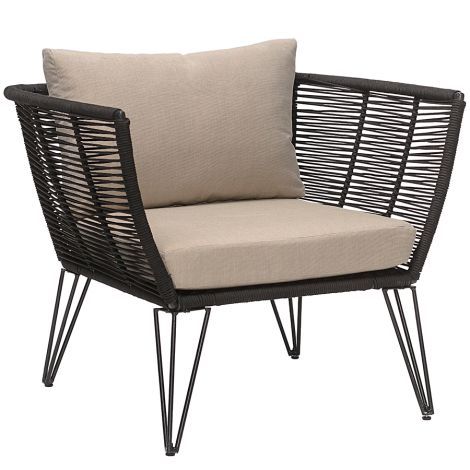 Bloomingville Sessel Lounge Mundo Black