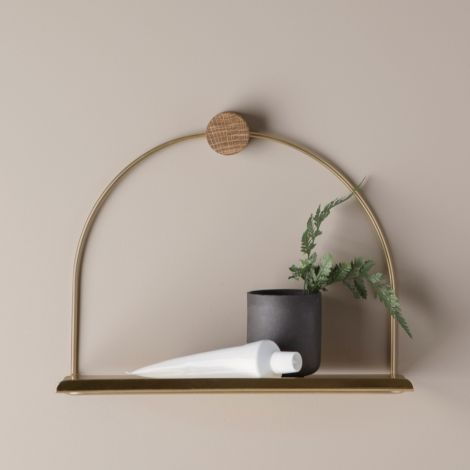 ferm LIVING Regal-Ablage Messing
