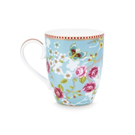 PIP Studio Große Tasse Chinese Rose Blue 350ml