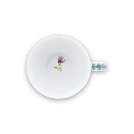 PIP Studio Cappuccino-Tasse mit Unterteller Blushing Birds White