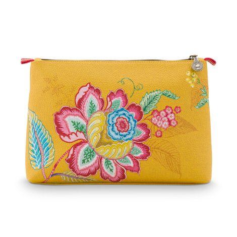 PIP Studio Kosmetiktasche Combi Jambo Flower Yellow 2er-Set