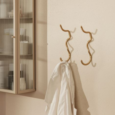 ferm LIVING Wandhaken Curvature Brass