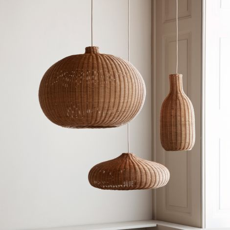 ferm LIVING Lampenschirm Braided Belly Natural
