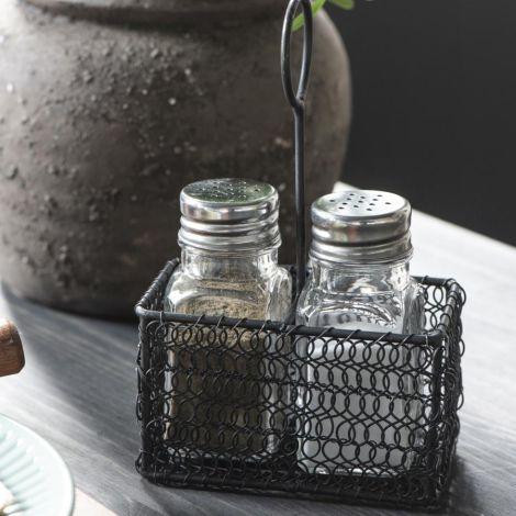 IB LAURSEN Korb für Salz- und Pfefferstreuer Dunkel