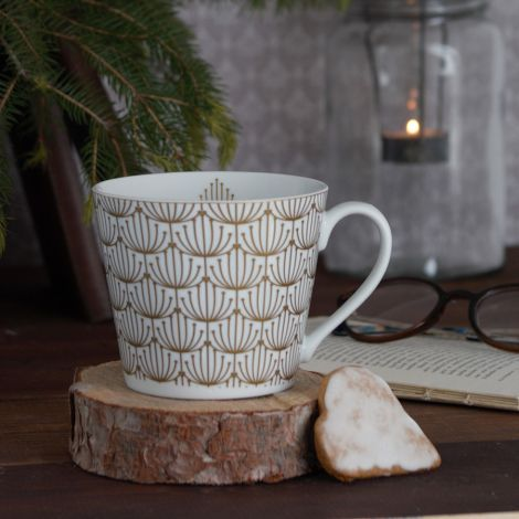 Krasilnikoff Tasse Happy Cup Blossom Gold