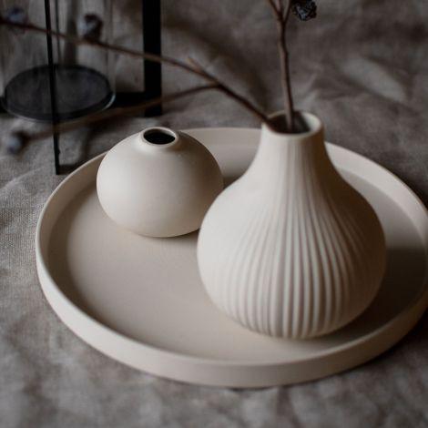 Storefactory Tablett aus Keramik Grimshult Beige