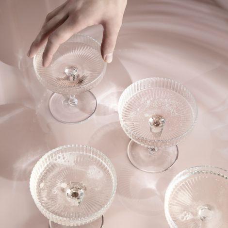 ferm LIVING Champagner Gläser Ripple 2er-Set