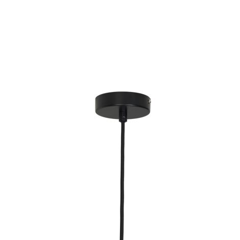 Broste Copenhagen Deckenlampe Lolly Black Metall/White Opal Glas 43 cm