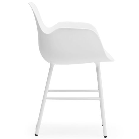 Normann Copenhagen Form Lehnstuhl Steel/White