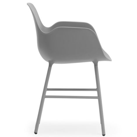 Normann Copenhagen Form Lehnstuhl Steel/Grey