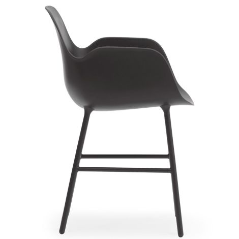 Normann Copenhagen Form Lehnstuhl Steel/Black