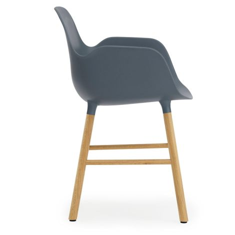 Normann Copenhagen Form Lehnstuhl Oak/Blue
