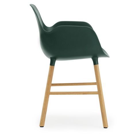 Normann Copenhagen Form Lehnstuhl Oak/Green