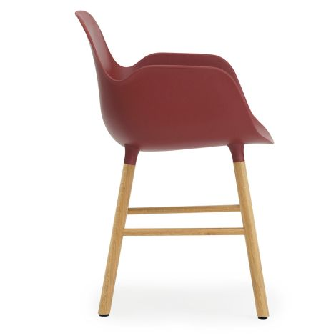 Normann Copenhagen Form Lehnstuhl Oak/Red