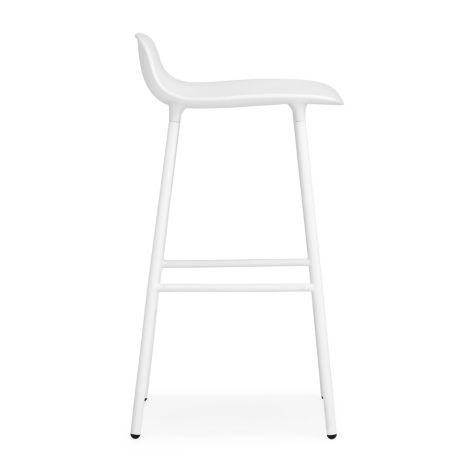 Normann Copenhagen Form Barstuhl 65cm Steel/White