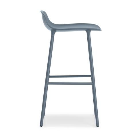 Normann Copenhagen Form Barstuhl 65cm Steel/Blue