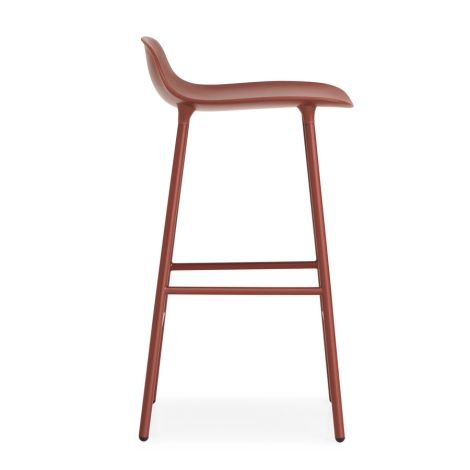 Normann Copenhagen Form Barstuhl 65cm Steel/Red