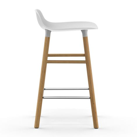 Normann Copenhagen Form Barstuhl 65cm Oak/White