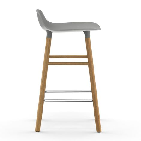 Normann Copenhagen Form Barstuhl 65cm Oak/Grey