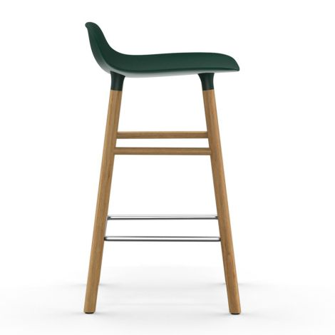 Normann Copenhagen Form Barstuhl 65cm Oak/Green