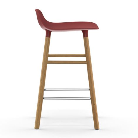 Normann Copenhagen Form Barstuhl 65cm Oak/Red